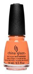 bottle of China Glaze Sunny You Should Ask orange nail lacquer