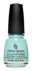 bottle of China Glaze live in the mo-mint nail lacquer color